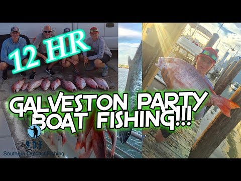 12 Hour Deep Sea Galveston Party Boat Fishing!!
