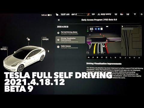 Tesla FULL SELF DRIVING BETA 9 2021.4.18.12 First Impressions FSDBeta