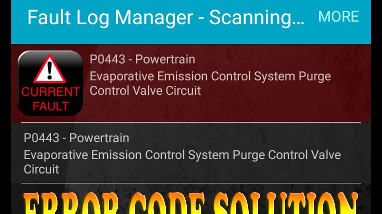 P0443 Evaporative Emission Control System Purge Control Valve Circuit