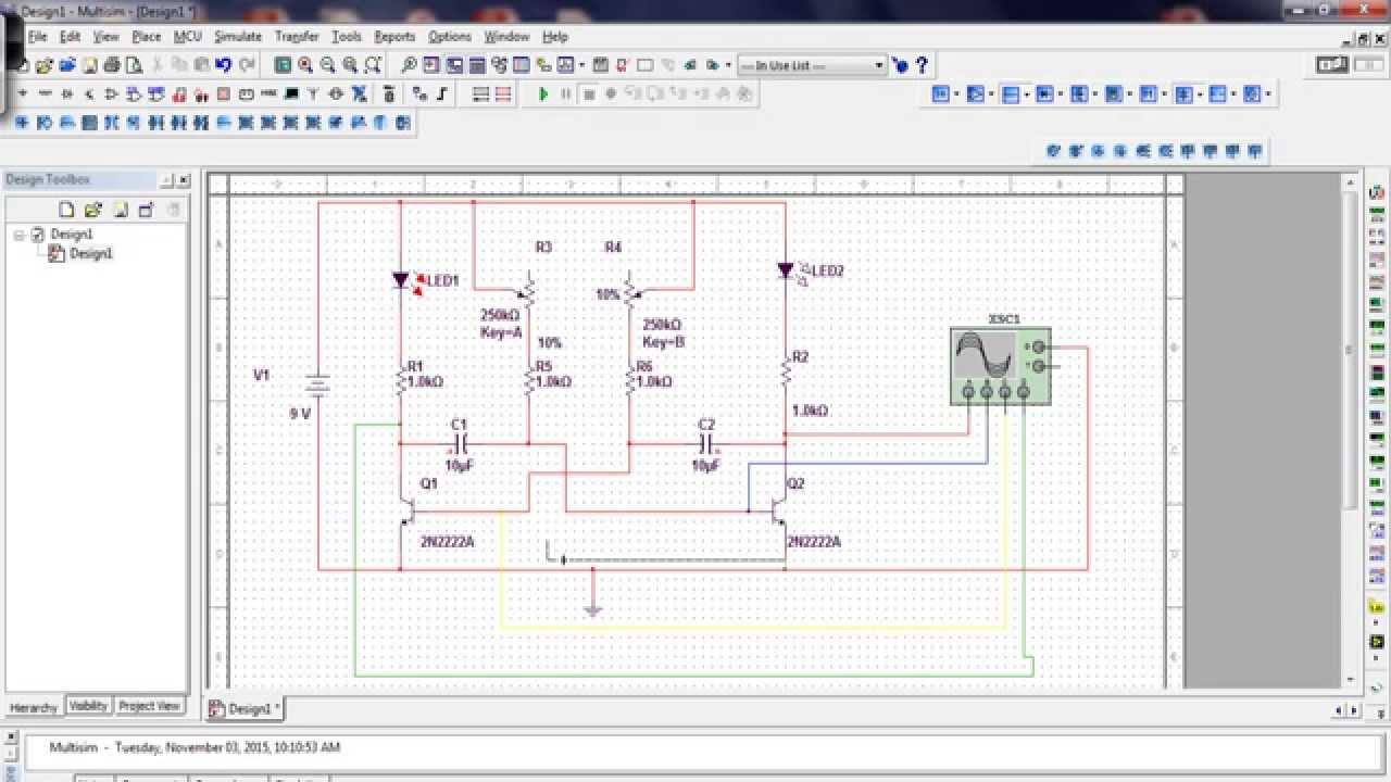 L 2 Astable Multivibrator Simulation
