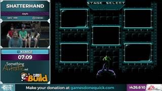 Shatterhand by Klaige in 22:58 - SGDQ 2016 - Part 112