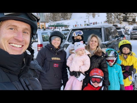 SKIING WITH SIX KiDS! Disaster or Success?