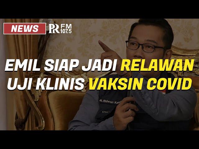 Ridwan Kamil Siap Jadi Relawan Uji Klinis Vaksin Covid-19 Buatan Cina