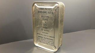 1950 Food Packet Survival Tropic 2 Ration Korean War Pilot MRE Review Meal Ready to Eat Taste Test