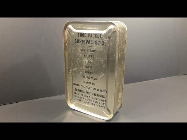 1950 Food Packet Survival Tropic 2 Ration Pilot MRE Review Meal Ready to Eat Taste Test