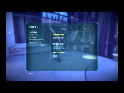 Tron: Evolution Collectible _ Chapter 3 -- Arjia _ 4 Tron Files & 1 Abraxas Shard