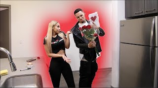 Flowers From ANOTHER GUY On V-Day Prank!