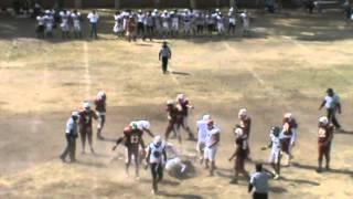Sioux Veteranos 6 -- 0 Lagartos ITTLA -- TERCER CUARTO Octubre 28, 2012.
