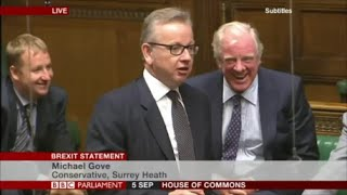 Michael Gove celebrates the wisdom of the British who voted for brexit
