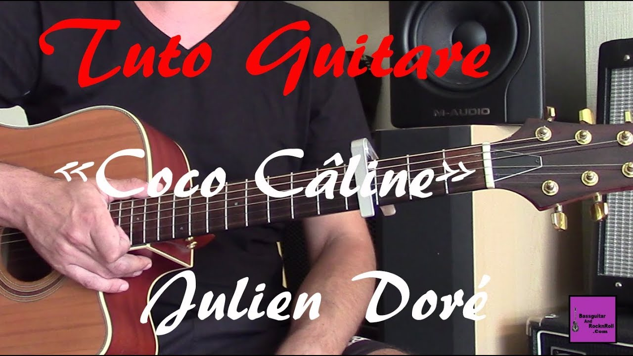 tuto guitare chanson facile coco c line julien dor tab youtube. Black Bedroom Furniture Sets. Home Design Ideas