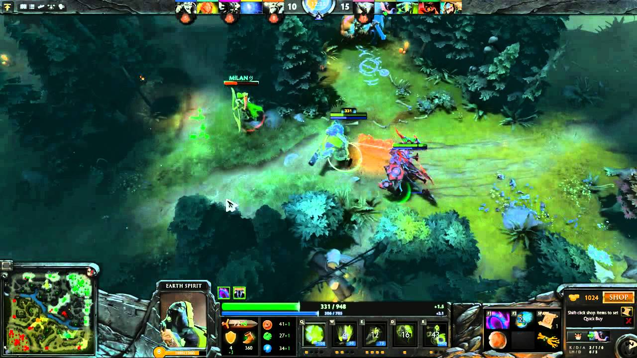 dota 2 with alan earth spirit youtube