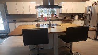 DIY Bamboo Countertop Kitchen Island