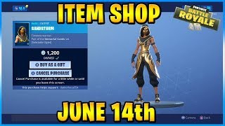 NEW Sandstorm and Scimitar Skins and Set! | FORTNITE ITEM SHOP TODAY! (June 14th, 2019)