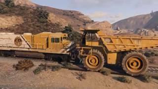 GTA Online Dump Truck vs Train