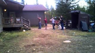 Martin, Skylar, Madison and Uncle Josh longbows