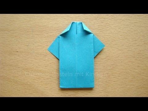 falten mit papier hemd falten einfaches origami z b als vatertagsgeschenk f r papa youtube. Black Bedroom Furniture Sets. Home Design Ideas