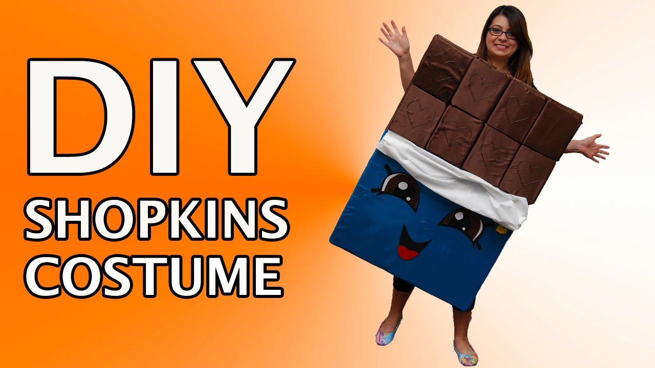 DIY Shopkins Halloween Costume Cheeky Chocolate Custom Tutorial ...