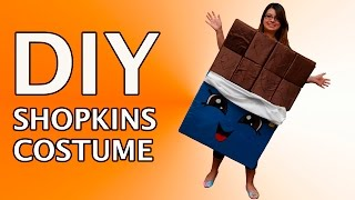 DIY Shopkins Halloween Costume Cheeky Chocolate Custom Tutorial