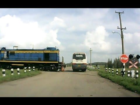 Подборка дтп   Катастрофы на железнодорожных переездах