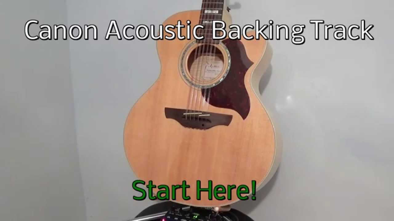 canon acoustic guitar backing track youtube. Black Bedroom Furniture Sets. Home Design Ideas