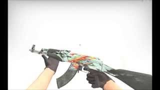 cs go ak 47 aquamarine revenge battle scarred