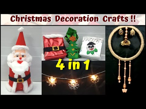 4-in-1-|-easy-christmas-craft-ideas-at-home-|-how-to-make-simple-decoration-crafts-for-kids-diy