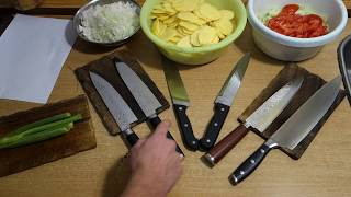Cheap DAMASCUS KITCHEN KNIVES from china (aliexpress) - REVIEW