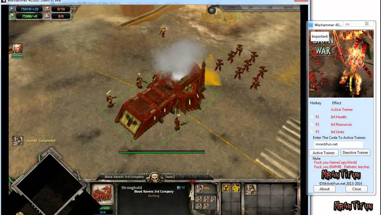 warhammer 40k dawn of war 2 cheat engine