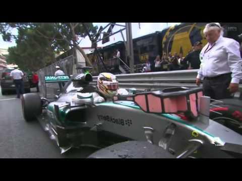 GP Monaco 2015 Pre Podium Lewis Hamilton gets angry