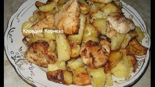 Грудка куриная запеченная с картофелем и майонезом в духовке