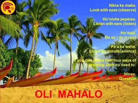 Learn the Oli Mahalo Chant from  Native Hawaiian Cultural Practitioner Vene Chun