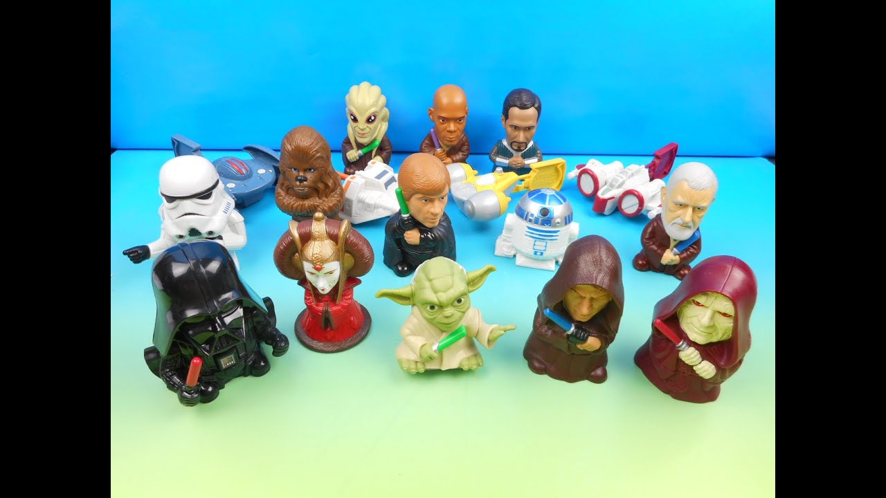 2005 Star Wars Episode Iii Complete The Saga Set Of 17 Burger King Kids Meal Toys Video Review Youtube