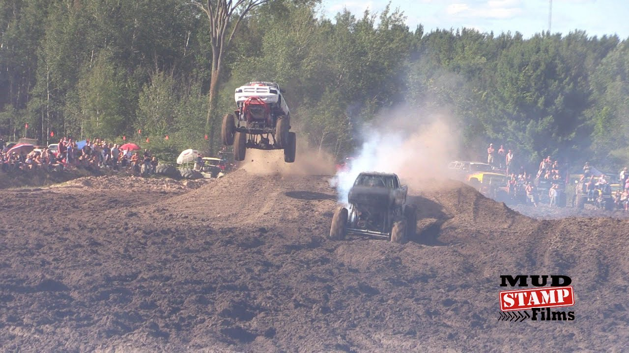 Trucks Gone Wild Michigan >> HellBoy & Mud Stick Team Freestyle- Michigan Mud Jam 2015 - YouTube
