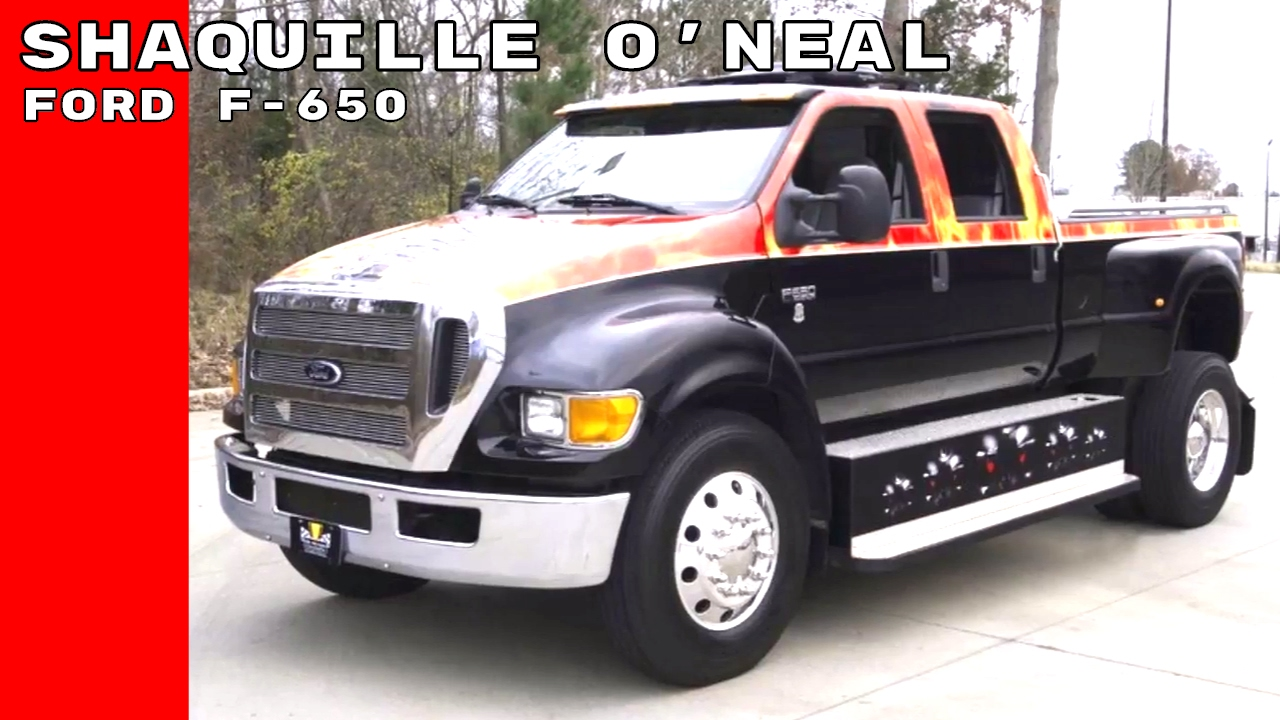 shaquille o neal buys ford f 650 xlt super duty truck [ 1280 x 720 Pixel ]