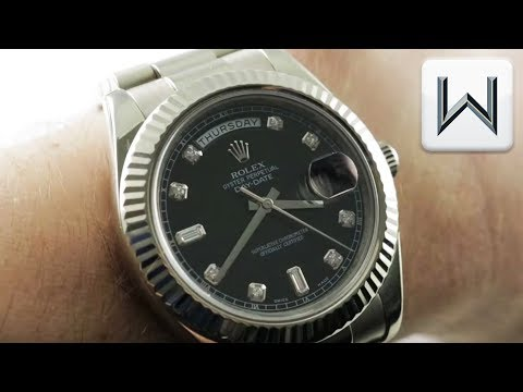 Rolex Day-Date II 41mm White Gold (218239) Luxury Watch Review