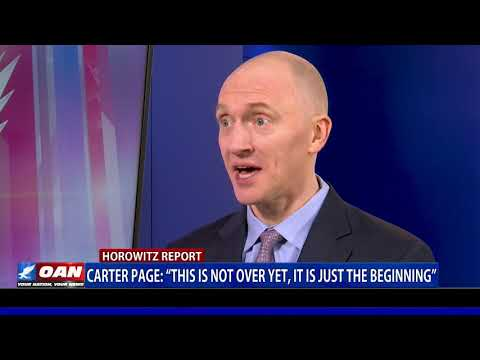 """Carter Page: """"This is not over yet, it is just the beginning"""""""