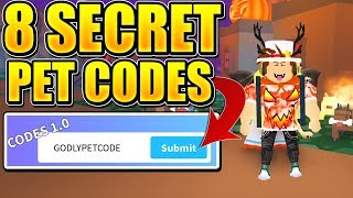 8 SECRET PET CODES IN ROBLOX DINO PET SIMULATOR! *INSANE PETS*