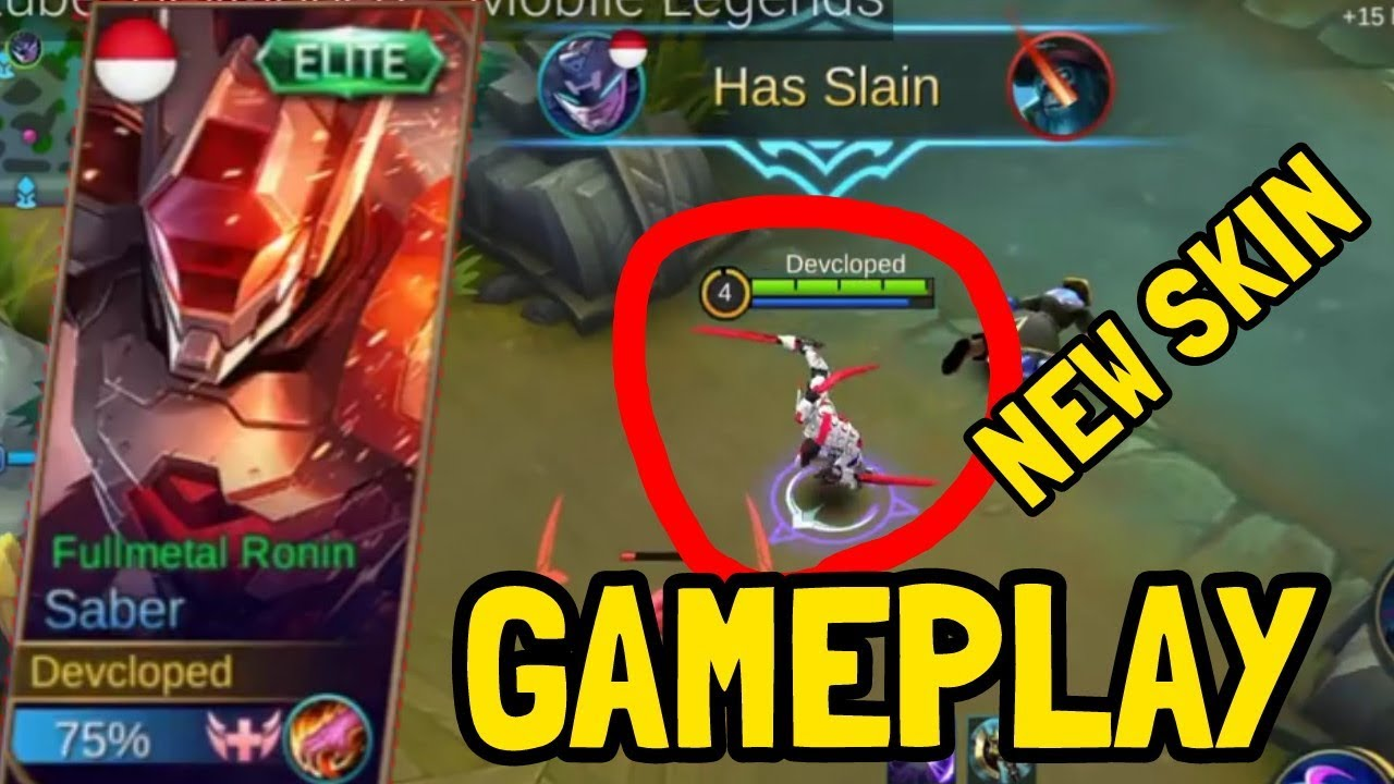GAMEPLAY NEW SKIN SABER FullMetal Ronin ! | Mobile Legends ...