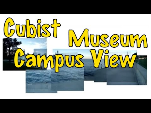 Cubist Museum Campus View, Chicago Skyline: The Lake Michigan Shore and Museum Campus