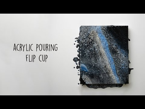 Acrylic Pouring Flip Cup | Acrylic Fluid Painting