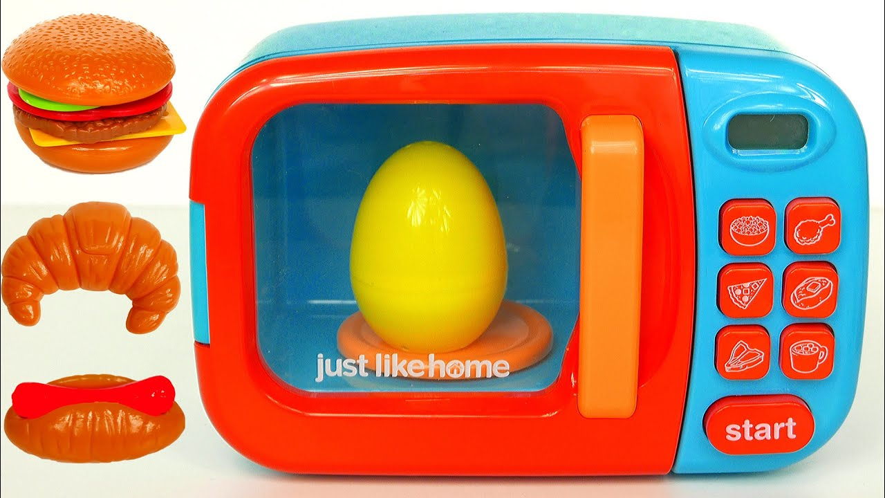 Just Like Home Microwave Toys for Kids and Surprise Eggs for