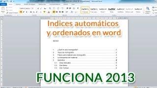 Indices automáticos ordenados en word - funciona 2018 thumbnail