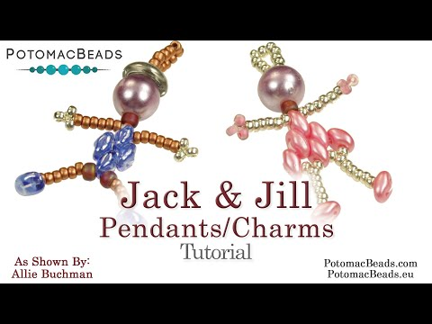 Jack & Jill Pendants Or Charms- DIY Jewelry Making Tutorial By PotomacBeads