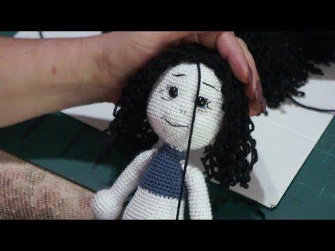 Amigurumi Bebekte Saç Yapımı : Amigurumi kız bebek bölüm yüz yapımı ve saç dikimi youtube