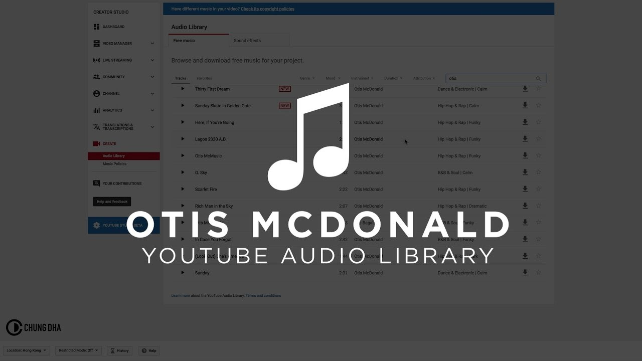 download entire youtube audio library