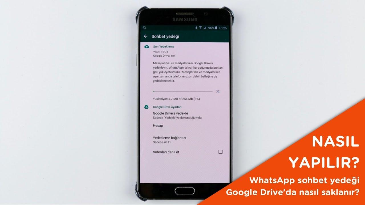 WhatsApp Mesajlarınızı Google Drive'dan Geri Yükleme