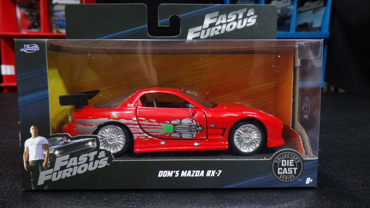 dom's mazda rx-7 - the fast and the furious toy cars collection