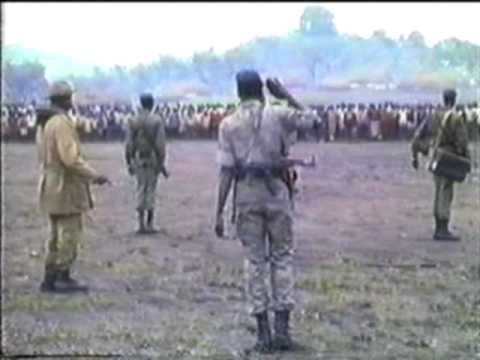 Dr. John Garang and Salva Kiir Mayardit in Longkuei