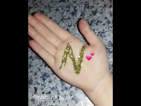 Əldə zərlə baş hərif N hərifi