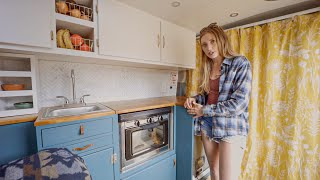 Her DIY Camper Van Tiny House - Corporate Job To Life On The Road